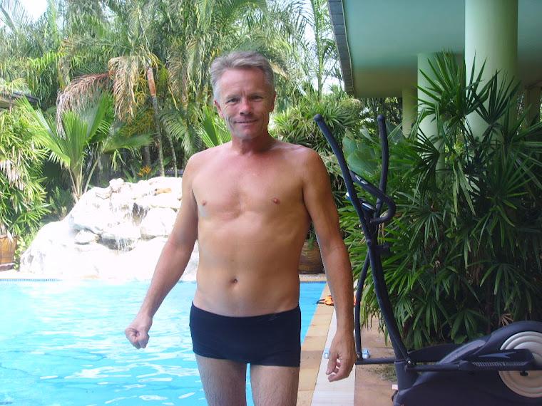 Tony at poolside.