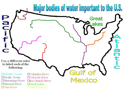 Mr Iademarco Th Grade Blog US Bodies Of Water Map - Bodies of water map us