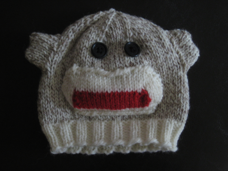 Sock Monkey Hat Knitting Pattern : My Fish likes to knit: Sock Monkey Hat