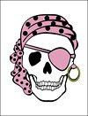 Pink Pirate Invitation