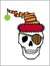 Santa Pirate Skull