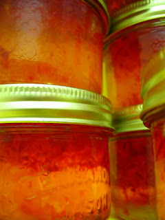 Home made red-pepper jelly