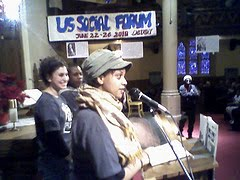 Naome Debebe-Bogale of the Restaurant Opportunities Center (ROC) Speaking at MLK Day in Detroit