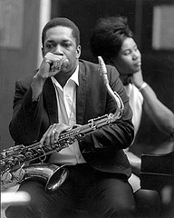 John Coltrane Filmed in Studio Playing Alabama
