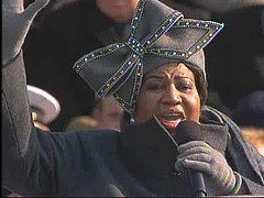 Aretha Franklin Pictured Performing at the Obama Inauguration on January 20, 2009
