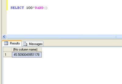 random number generator function in sql server