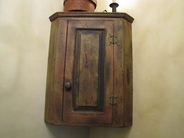 Antiqued Wall Cabinet