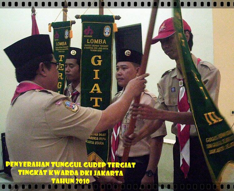 Penyematan Tunggul Gudep Tergiat  Kwarda DKI Jakarta Tahun 2010