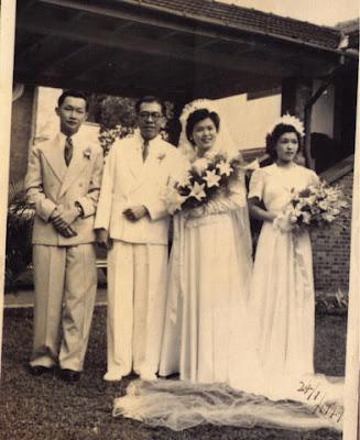 Sarawakiana: Black and White Wedding Photos 1940's - 1960's