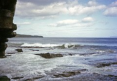 Waves and cliffs on the Pentland Firth, Thurso
