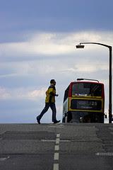 Man runs for bus