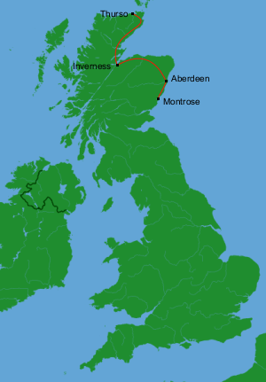 Britain by Bus Day 1: Thurso to Montrose