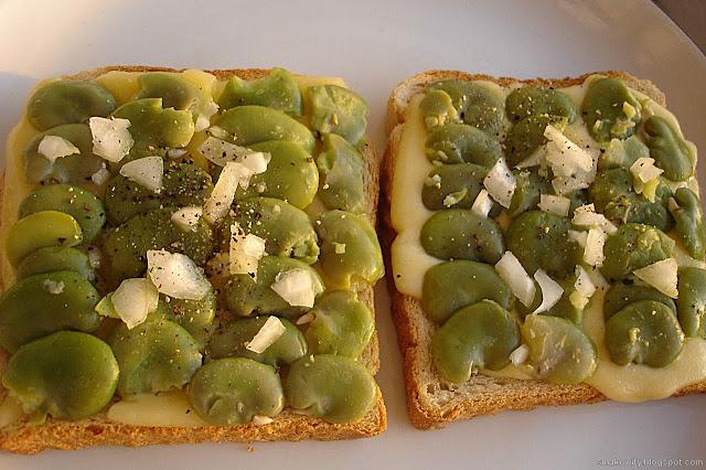 zielone tosty