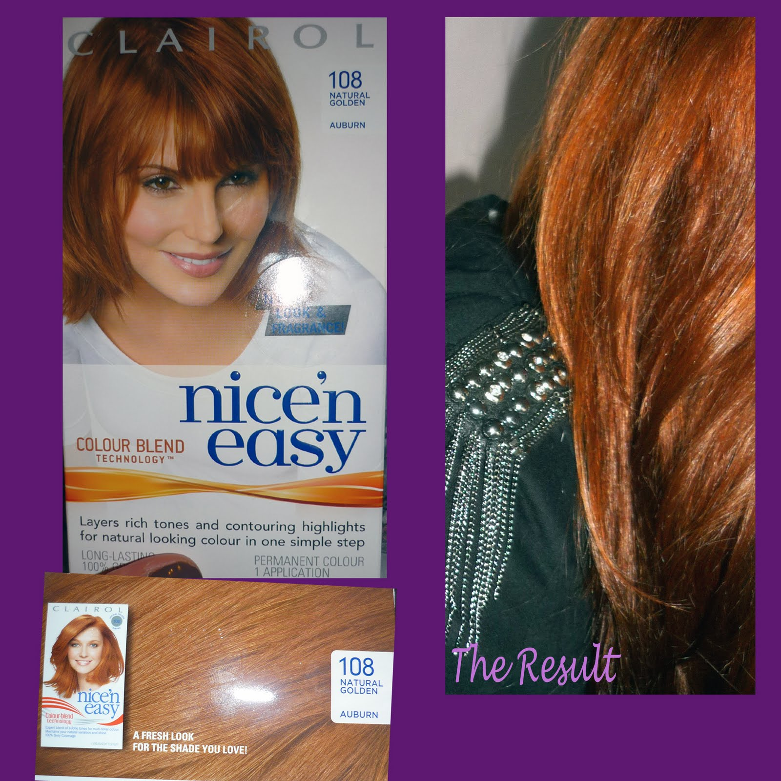 clairol 108 golden auburn dark brown hairs. Black Bedroom Furniture Sets. Home Design Ideas