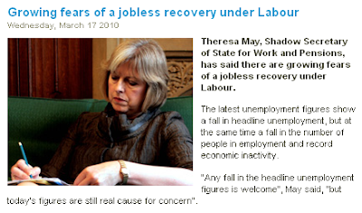 Theresa May warns of a jobless recovery