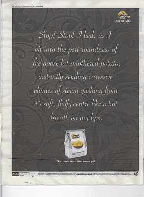 McCain advert scanned from the back of the London Lite, 17 November 2008 issue