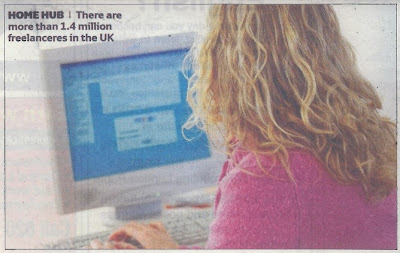 Caption reads: There are more than 1.4 million freelanceres in the UK