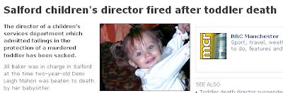 Salford children's director fired after toddler death