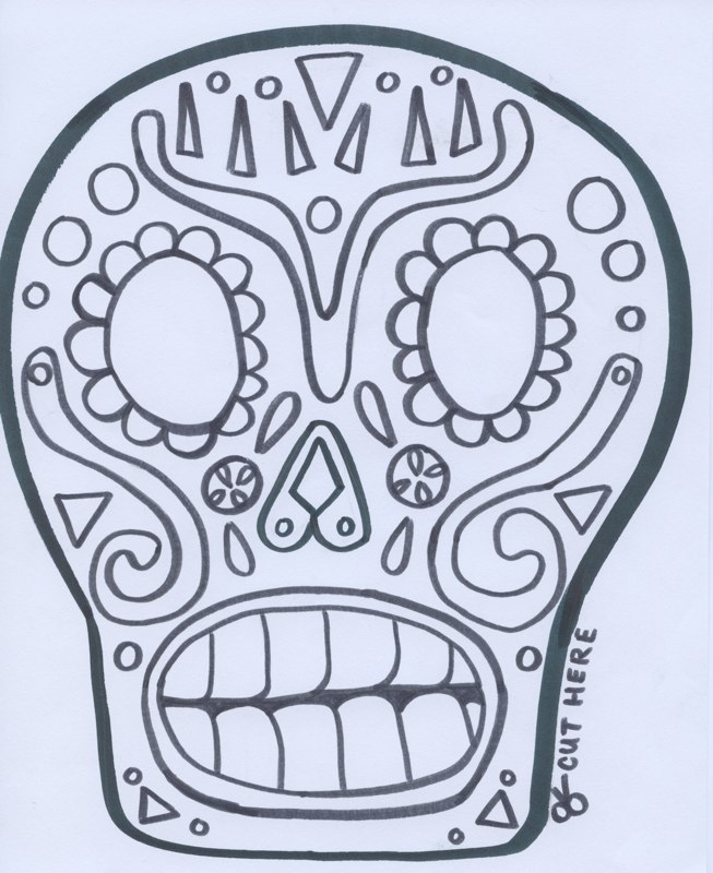 calavera catrina coloring pages - photo#1