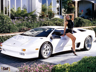 Lamborghini Diablo and Car Babe