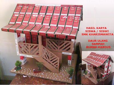 hiasan unik yang dapat digunakan sebagai rumah untuk boneka mungil