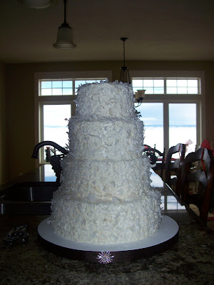 Coconut shavings cake, Las vegas Wedding cakes