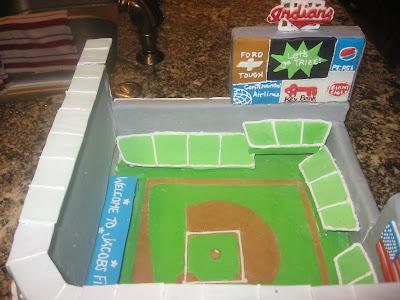 Baseball field cake, boys birthday cakes, Las Vegas cakes