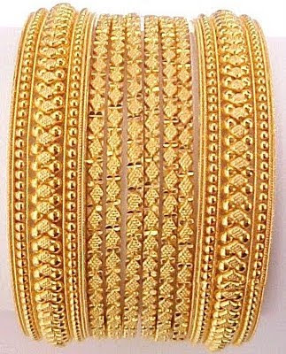 Indian Traditional Bridal Gold Bangles Set