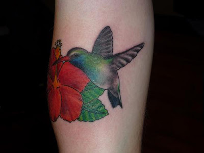 Humming Bird Tattoo on hand