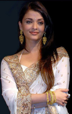Aishwarya Rai in Antique Gold Earrings