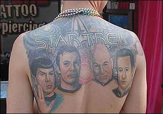 Startrek Tattoo Design - Back body Tattoo