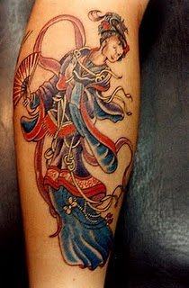 Japanese Geisha Tattoo Design