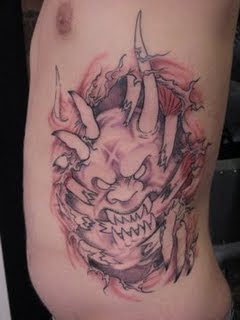3D Devil Tattoo Design Male Side Body