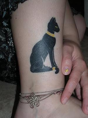 Cat Tattoo for Female Tattoo Lovers