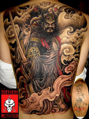 Chinese Full Back Tattoo Design