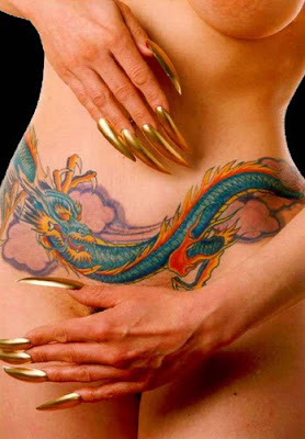 Sexy Dragon Tattoo for Girls