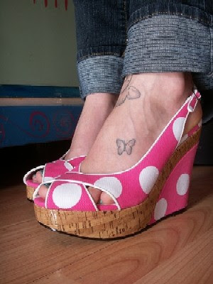 love heart Ankle Tattoo