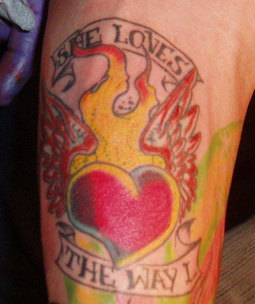 rose and heart tattoos. rose and heart tattoos