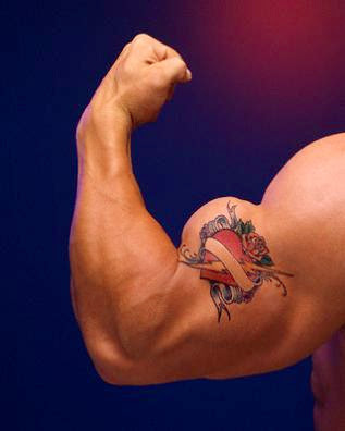 Biceps Tattoo Design - Heart Tattoo Design
