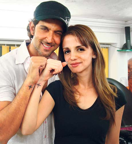 Actor Hrithik Roshan Tattoo | Hrithik Susanne Roshan Tattoo