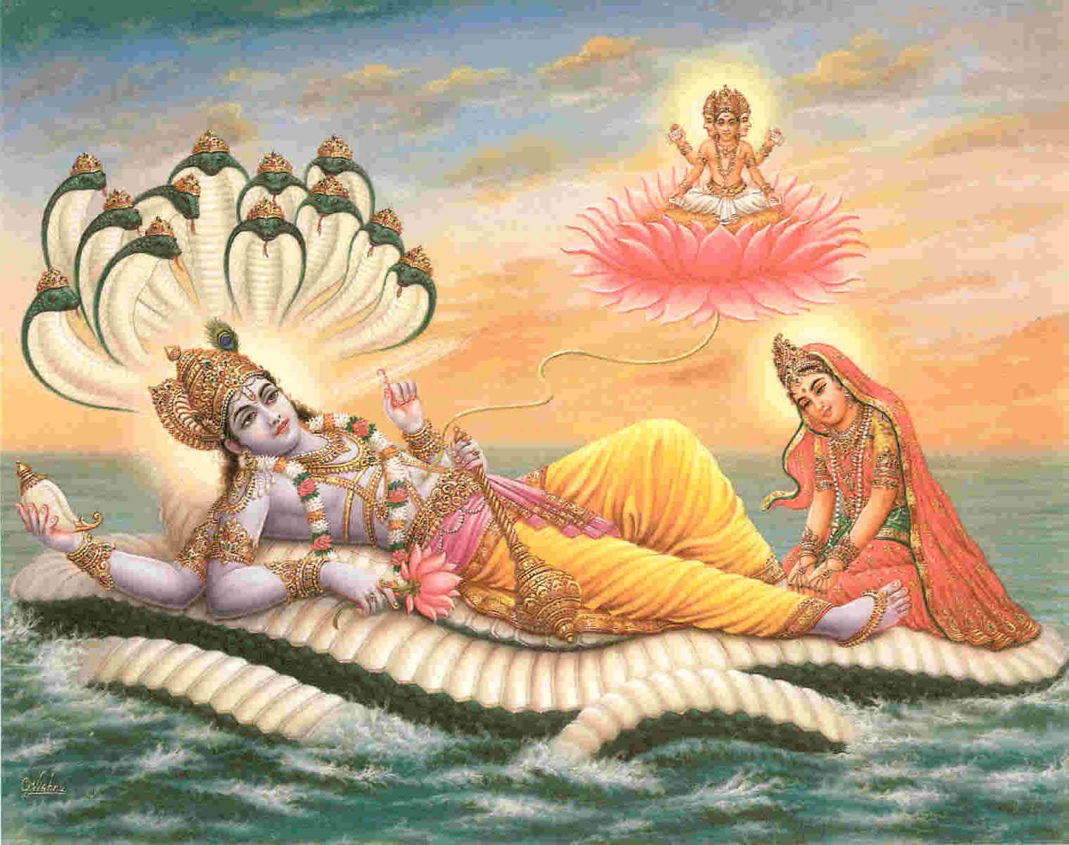 The Hindu god Vishnu is the