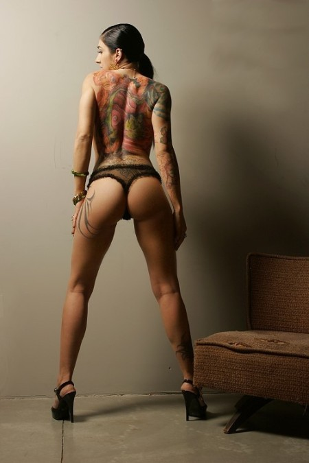 tattooed models. Sexy Tattoo Models - Full Back