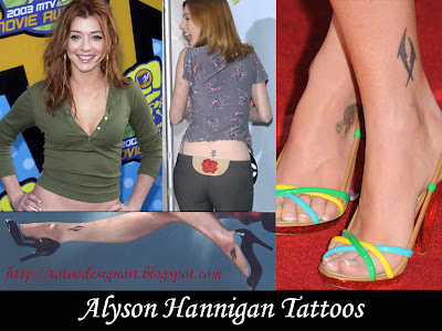 Alyson Hannigan Tattoos - Celebrity Tattoo Designs