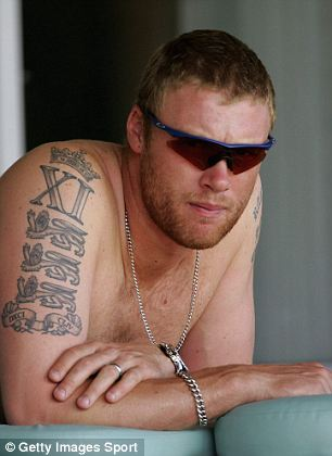 Andrew Flintoff Tattoo - Celebrity Tattoo Design