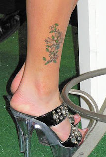 Cross and Vines Tattoos For Girls Feet Tattoos