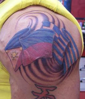 Dave Batista Tattoos - WWE Superstar Tattoo Design