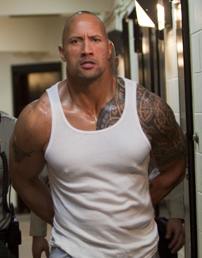 The Rock a.k.a. Dwayne Johnson's Maori style tattoo