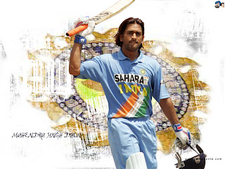 Mahendra Singh Dhoni Long Hairstyle Pictures