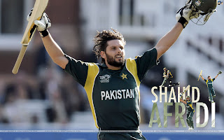 Shahid Afridi Hairstyle Pictures