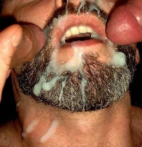 video bearded gay cum sprayed